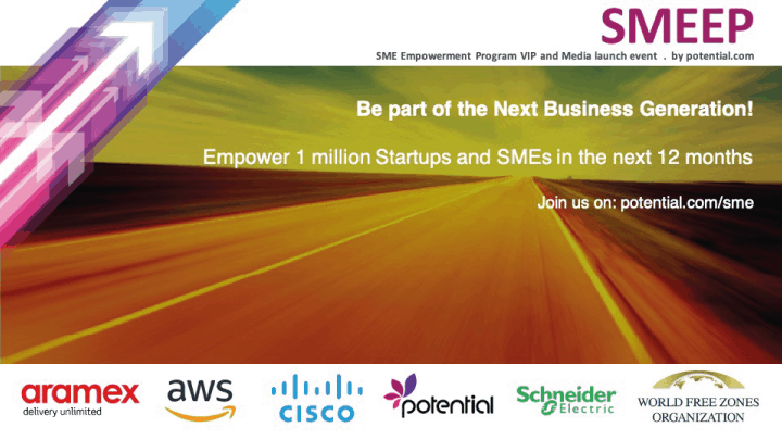 Empowering 1 million Startups and SMEs in the next 12 months!